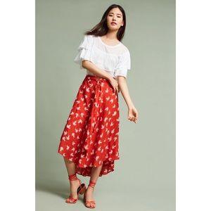 Anthro x Porridge | Tandy Skirt in Red